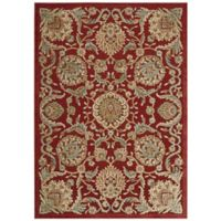 Nourison Graphic Illusions Blossoms 7-Foot 9-Inch x 10-Foot 10-Inch Area Rug in Red