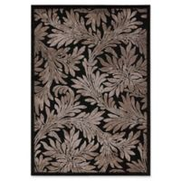 Nourison Graphic Illusions 5-Foot 3-Inch x 7-Foot 5-Inch Area Rug in Black