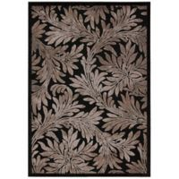 Nourison Graphic Illusions 7-Foot 9-Inch x 10-Foot 10-Inch Area Rug in Black