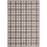 Nourison Graphic Illusions 5-Foot 3-Inch x 7-Foot 5-Inch Area Rug in Ivory/Taupe