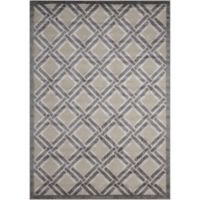 Nourison Graphic Illusions 2-Foot 3-Inch x 3-Foot 9-Inch Accent Rug in Grey