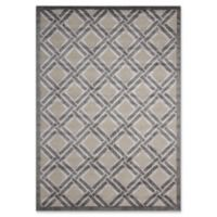 Nourison Graphic Illusions 5-Foot 3-Inch x 7-Foot 5-Inch Area Rug in Grey