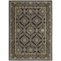 Nourison Gil Bordered Medallion 2-Foot 3-Inch x 3-Foot 9-Inch Accent Rug in Black