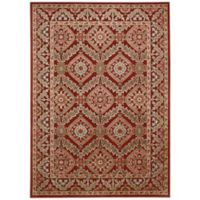 Nourison Gil Bordered Medallion 3-Foot 6-Inch x 5-Foot 6-Inch Area Rug in Red