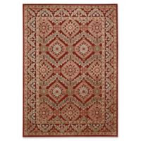 Nourison Gil Bordered Medallion 5-Foot 3-Inch x 7-Foot 5-Inch Area Rug in Red
