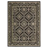 Nourison Gil Bordered Medallion 5-Foot 3-Inch x 7-Foot 5-Inch Area Rug in Black
