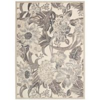 Nourison Gil Elegant Floral 3-Foot 6-Inch x 5-Foot 6-Inch Area Rug in Ivory