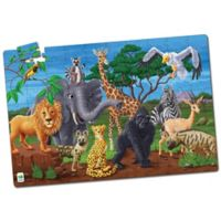The Learning Journey Puzzle Doubles! Glow in the Dark Wildlife Puzzle