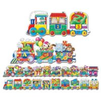 The Learning Journey Puzzle Doubles® Giant ABC and 123 Train Floor Puzzles