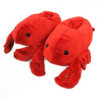 Wishpets Size Medium 12-Inch Lobster Slippers
