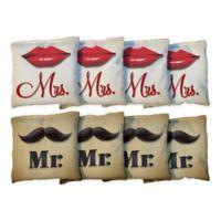 Victory Tailgate Mr. & Mrs. Lips Wedding Regulation Corn-Filled Cornhole Bags (Set of 8)