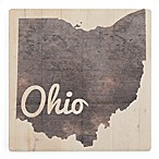 Thirstystone® Dolomite Ohio on Wood Single Coaster