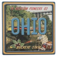 Thirstystone® Dolomite Ohio: Buckeye State Single Coaster