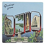 Thirstystone® Dolomite Greetings from Ohio Single Coaster