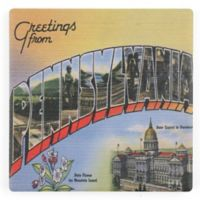 Thirstystone® Dolomite Greetings from Pennsylvania Single Coaster