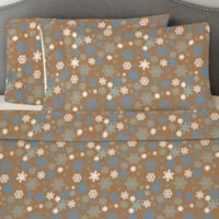Pointehaven 170 GSM Snow Flakes Twin Sheet Set in Brown