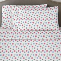 Pointehaven 170 GSM Snow Flakes Queen Sheet Set