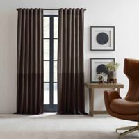 ED Ellen DeGeneres Shadow 84-Inch Rod Pocket/Back Tab Window Curtain Panel in Brown