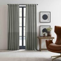 ED Ellen DeGeneres Shadow 84-Inch Rod Pocket/Back Tab Window Curtain Panel in Grey