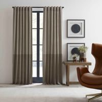 ED Ellen DeGeneres Shadow 84-Inch Rod Pocket/Back Tab Window Curtain Panel in Neutral