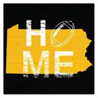 Designs Direct Pennsylvania State Pride Square Canvas Wall Art in Yellow