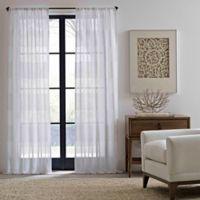 ED Ellen DeGeneres Shadow Sheer 84-Inch Rod Pocket/Back Tab Window Curtain Panel in White