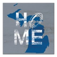 Designs Direct Michigan State Pride 16-Inch Square Canvas Wall Art in Blue
