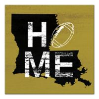 Designs Direct Wisconsin State Pride 16-Inch Square Canvas Wall Art in Black