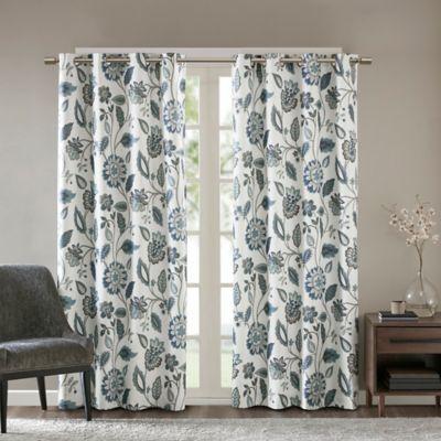 SunSmart Camille 95 Inch Grommet Top Room Darkening Window Curtain Panel In Aqua