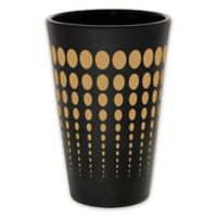 Silipint Pint Glass in Black with Tan Dots