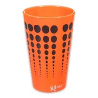 Silipint Pint Glass in Orange with Black Dots
