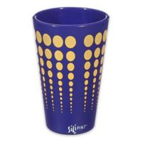 Silipint Pint Glass in Navy with Yellow Dots