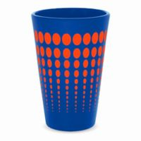 Silipint Pint Glass in Blue with Orange Dots