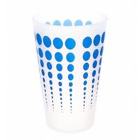 Silipint Pint Glass in White with Blue Dots