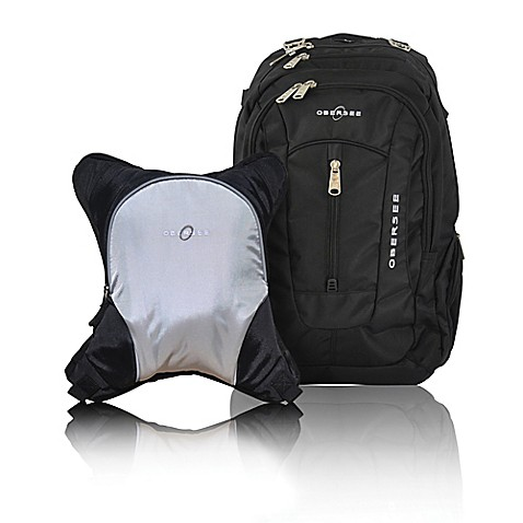obersee bern diaper bag backpack with detachable cooler in silver grey buybuy baby. Black Bedroom Furniture Sets. Home Design Ideas