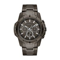 CARAVELLE Men's 44mm Chronograph Watch in Gunmetal Ion-Plated Stainless Steel