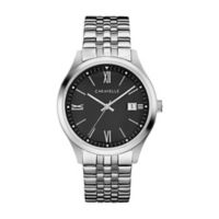 CARAVELLE Men's 41mm Watch in Stainless Steel with Black Dial