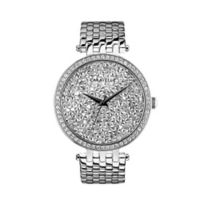 CARAVELLE Ladies' 38mm Crystal-Accented Watch in Stainless Steel
