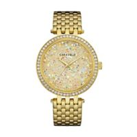 CARAVELLE Ladies' 38mm Crystal-Accented Watch in Goldtone Stainless Steel
