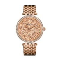 CARAVELLE Ladies' 38mm Crystal-Accented Watch in Rose Goldtone Stainless Steel