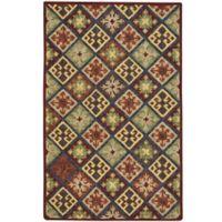 Capel Rugs Shakta Quilt 5' x 8' Hand-Tufted Multicolor Area Rug