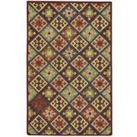 Capel Rugs Shakta Quilt 9' x 12' Hand-Tufted Multicolor Area Rug