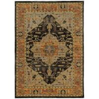 Oriental Weavers Andorra Scroll 6-Foot 7-Inch x 9-Foot 6-Inch Area Rug in Gold
