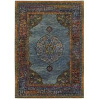 Oriental Weavers Andorra Medallion Rug in Blue