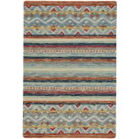 Capel Rugs Shakta Kelim 5' x 8' Hand Tufted Multicolor Area Rug