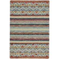 Capel Rugs Shakta Kelim 8' x 10' Hand Tufted Multicolor Area Rug