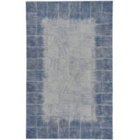 Capel Rugs Butte Brushed Blocks 8' x 10' Leather Area Rug in Blue