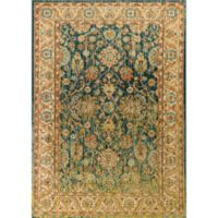 KAS Casablanca Cyrus 3-Foot 3-Inch x 4-Foot 11-Inch Accent Rug in Teal/Sand