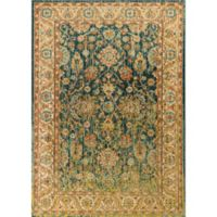 KAS Casablanca Cyrus 9-Foot 10-Inch x 13-Foot 2-Inch Area Rug in Teal/Sand