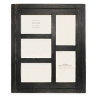 Prinz Homestead 5-Photo 4-Inch x 6-Inch Collage Wood Picture Frame in Black